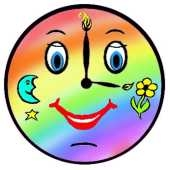 clock face rainbow